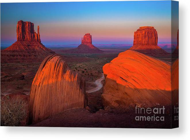 America Canvas Print featuring the photograph The Mittens by Inge Johnsson