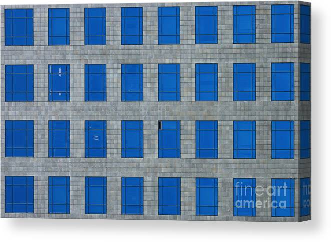 City Canvas Print featuring the photograph Windows Bedspread by Viktor Savchenko