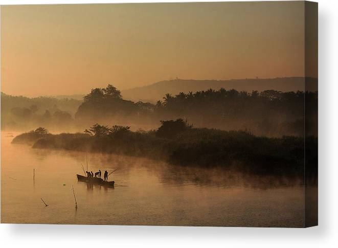 Scenics Canvas Print featuring the photograph Morning Business by Manojaswathi Photography