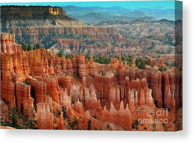 Landscape Canvas Print featuring the photograph Panorama Bryce Canyon by Chuck Kuhn