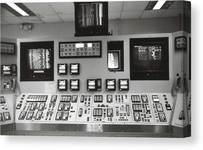Power Plant Canvas Print featuring the photograph Power Plant Instrument Board by Marilyn Hunt