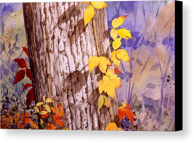 Poison Ivy Canvas Print featuring the painting Poisonous Beauty by Faye Ziegler