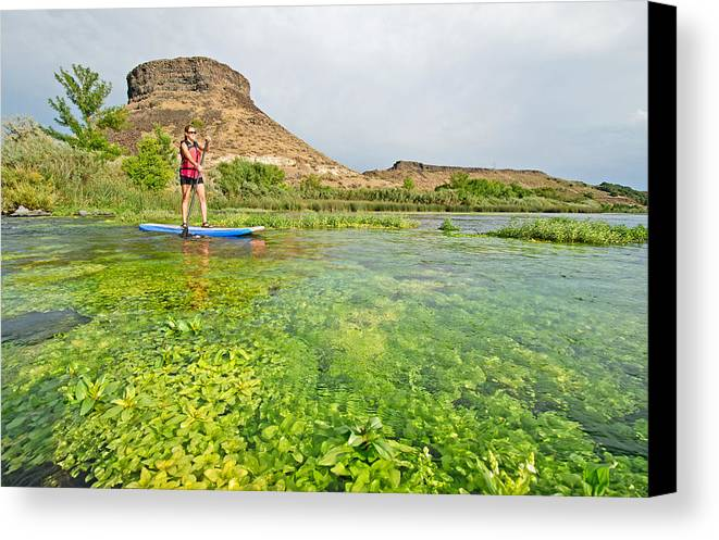 Jessica Florian Canvas Print featuring the photograph Standup Paddle Board by Elijah Weber