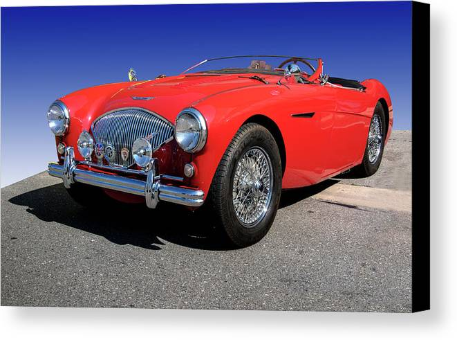 1956 Canvas Print featuring the photograph 1956 Austin Healey by Paul Cannon