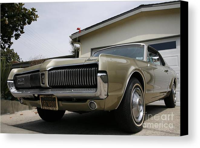 Mercury Canvas Print featuring the photograph 1967 Mercury Cougar by Wylder Flett
