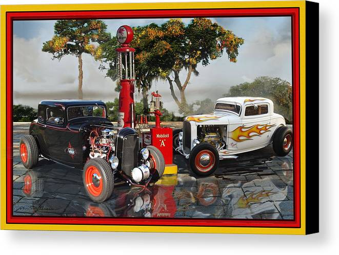 1932 Ford Hi- Boys Canvas Print featuring the painting 2 '32s by John Breen