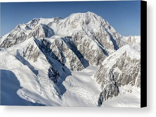 Denali Canvas Print featuring the photograph Denali - Mount Mckinley by Alasdair Turner