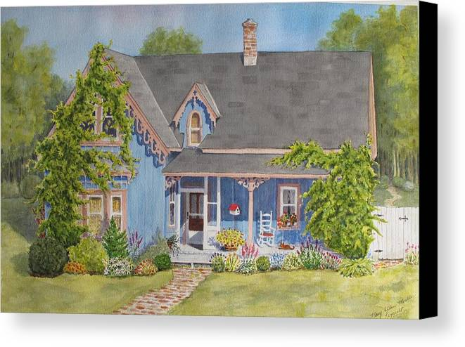Canada Canvas Print featuring the painting My Blue Heaven by Mary Ellen Mueller Legault