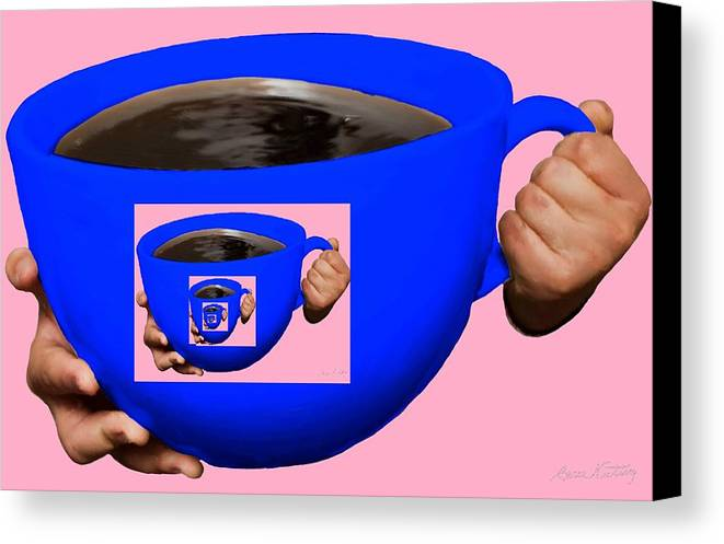 Blue Canvas Print featuring the painting Good Morning Coffee by Bruce Nutting