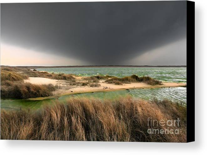 Outer Banks Canvas Print featuring the photograph A Storm A Coming - Outer Banks I by Dan Carmichael