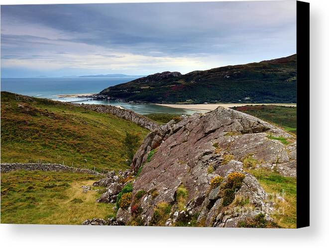 Barmouth Estuary Canvas Print featuring the photograph Barmouth Estuary by Rachel Slater
