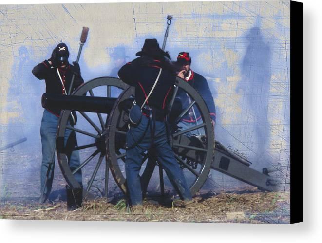 Civil War Cannon Canvas Print featuring the digital art Battle Of Franklin - 1 by Kae Cheatham