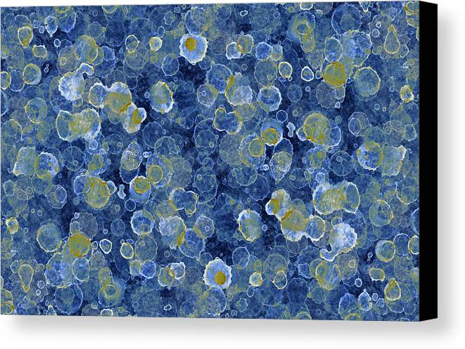 Blue Drip Canvas Print featuring the painting Blue Drip by Frank Tschakert