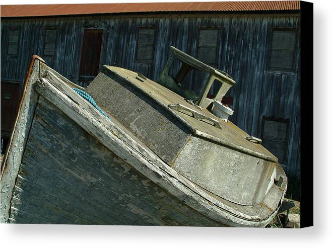 Boat Canvas Print featuring the photograph Cabin Cruiser by Ronald Dickey