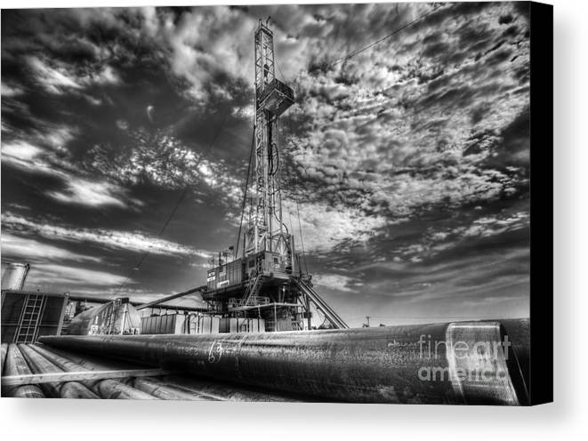 Oil Rig Canvas Print featuring the photograph Cac001-6 by Cooper Ross