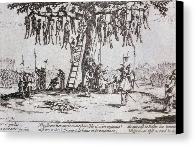 Horizontal Canvas Print featuring the photograph Callot, Jacques 1592-1635. The Great by Everett