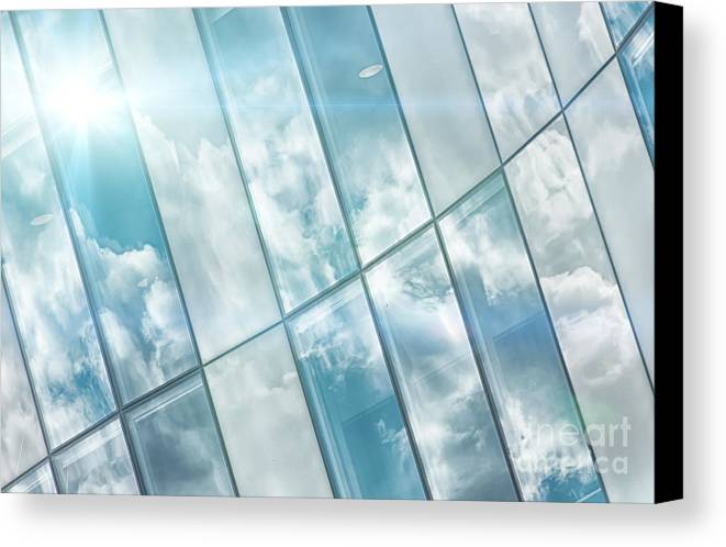 Modern Canvas Print featuring the photograph Corporate Flare Reflection by Antony McAulay