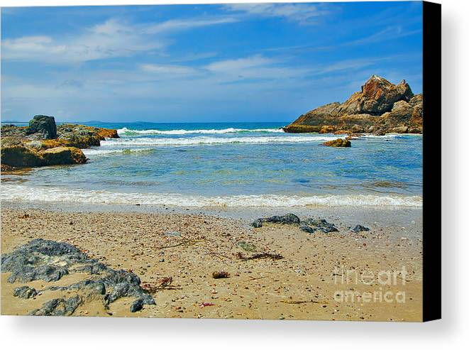 Photography Canvas Print featuring the photograph Crystal Waters - Port Macquarie Beach by Kaye Menner