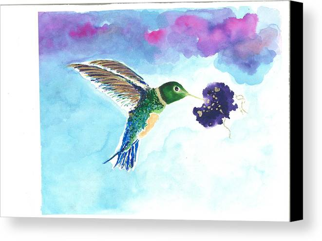 Hummingbird Canvas Print featuring the painting Georgia by Lori Sheridan
