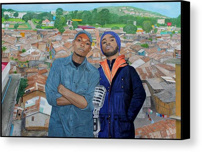 Hip Hop Canvas Print featuring the painting Ghetto Voice by Daniel Kisekka