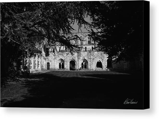 France Canvas Print featuring the photograph Haunted Abbey by Diana Haronis