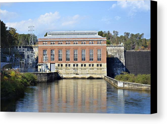 Canvas Print featuring the photograph Hydroelectric Power by Susan Leggett