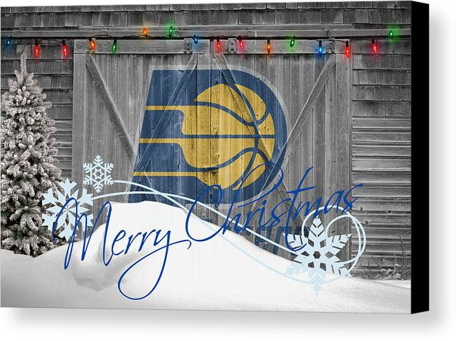 Pacers Canvas Print featuring the photograph Indiana Pacers by Joe Hamilton