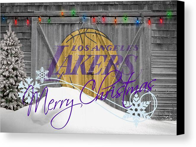 Lakers Canvas Print featuring the photograph Los Angeles Lakers by Joe Hamilton