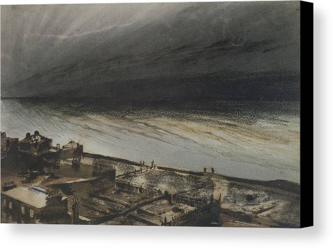 Marine Canvas Print featuring the painting Marine Terrace In Jersey by Victor Hugo