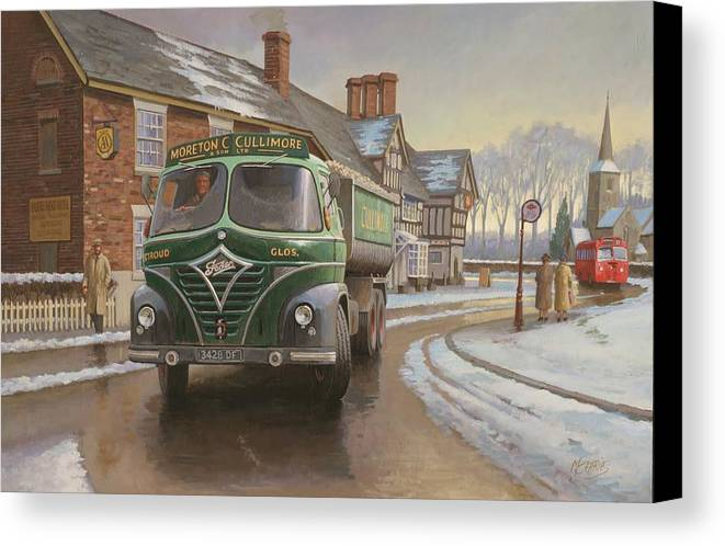 Painting For Sale Canvas Print featuring the painting Martin C. Cullimore Tipper. by Mike Jeffries