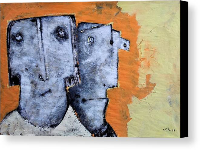 Expressionist Canvas Print featuring the painting Mortalis No. 17 by Mark M Mellon