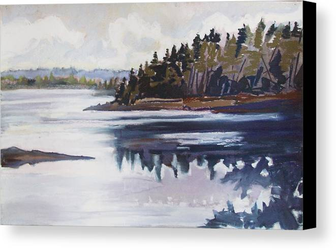 Downeast Maine Canvas Print featuring the pastel Mt. Desert Morning by Grace Keown