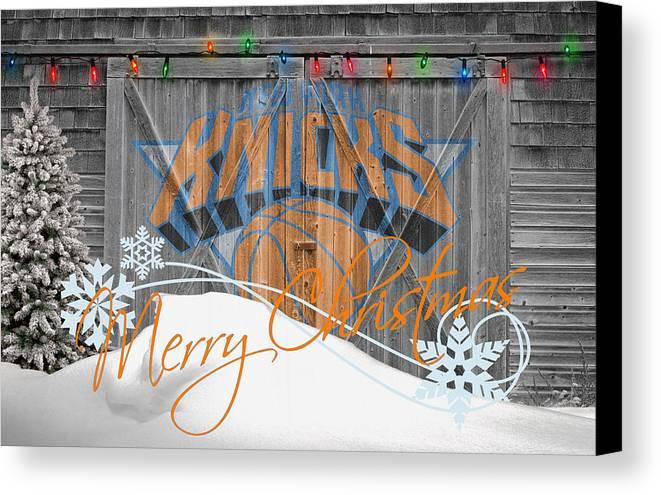 Knicks Canvas Print featuring the photograph New York Knicks by Joe Hamilton