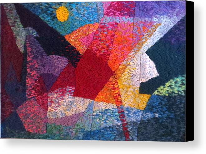 Abstract Expressionist Tapestry Canvas Print featuring the tapestry - textile Nocturne 11 by Diane Fine