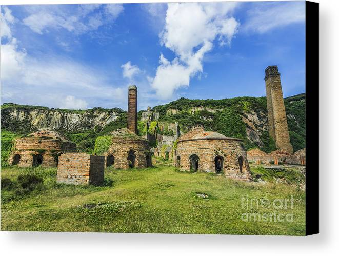 Old Canvas Print featuring the photograph Porth Wen Brickworks V2 by Ian Mitchell