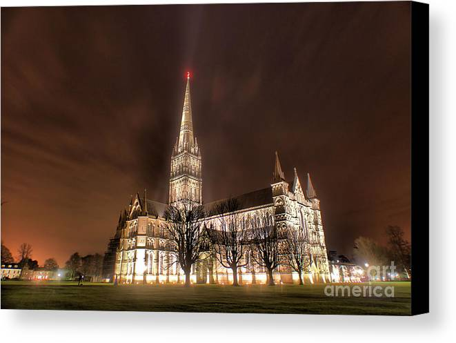 Salisbury Canvas Print featuring the photograph Salisbury Cathedral by Catherine Perkinton