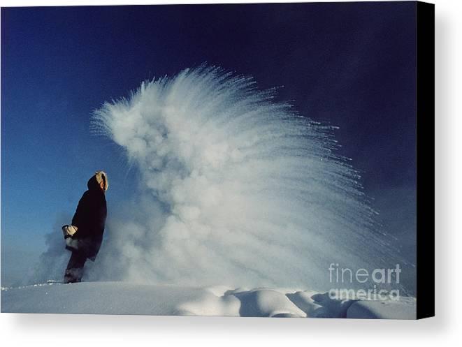 Ice Canvas Print featuring the photograph Sublimation by B and C Alexander