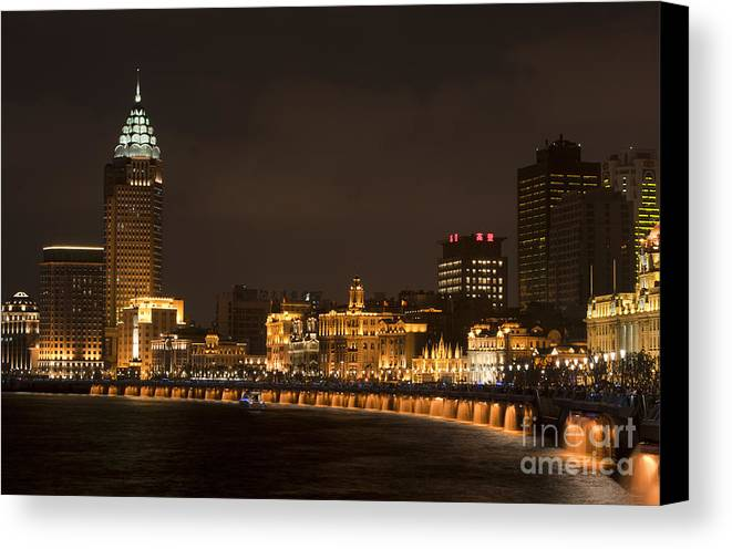 Asia Canvas Print featuring the photograph The Bund, Shanghai by John Shaw