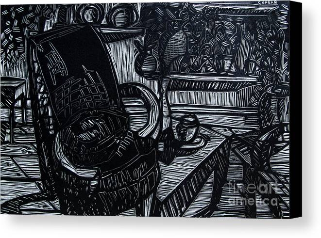 Chair Canvas Print featuring the relief The Chair Of My Dreams by Charlie Spear