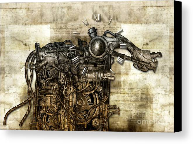 Monster Canvas Print featuring the photograph Time Monster by Diuno Ashlee