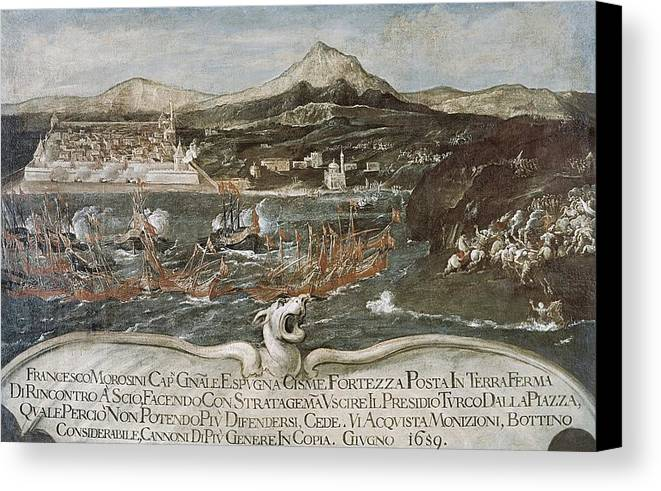 Horizontal Canvas Print featuring the photograph Turkish-venetian Wars. War Of Candia Or by Everett