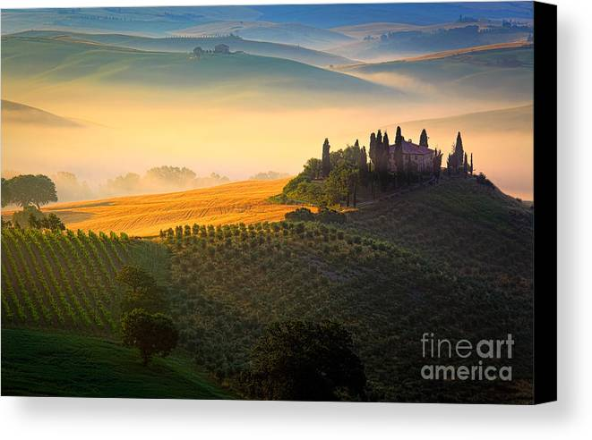 Europe Canvas Print featuring the photograph Tuscan Dawn by Inge Johnsson