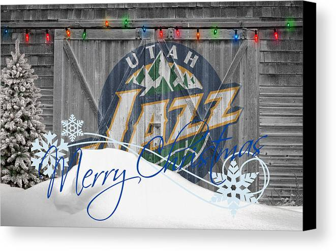 Jazz Canvas Print featuring the photograph Utah Jazz by Joe Hamilton