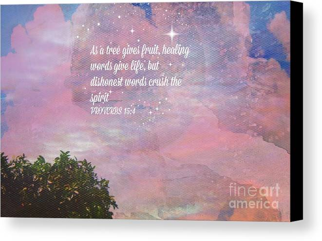 Spiritual Canvas Print featuring the painting Words Of Wisdom by Sherri's Of Palm Springs