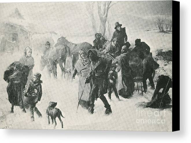 America Canvas Print featuring the photograph The Underground Railroad by Photo Researchers