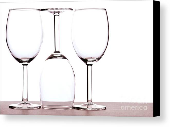 Wine Canvas Print featuring the photograph Wine Glasses by Blink Images