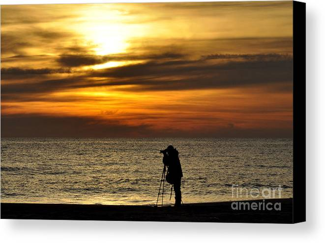 Sea Canvas Print featuring the photograph Alone by Tamera James