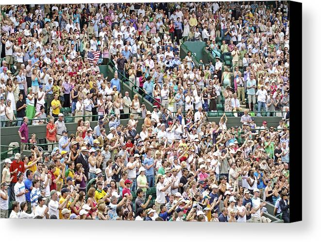 Audience Canvas Print featuring the photograph Crowd Of People by Carlos Dominguez