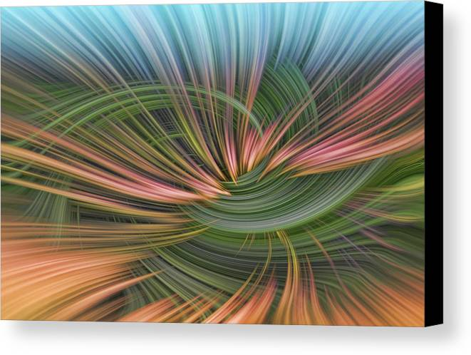 Abstract Canvas Print featuring the digital art Dark Thoughts by Linda Phelps