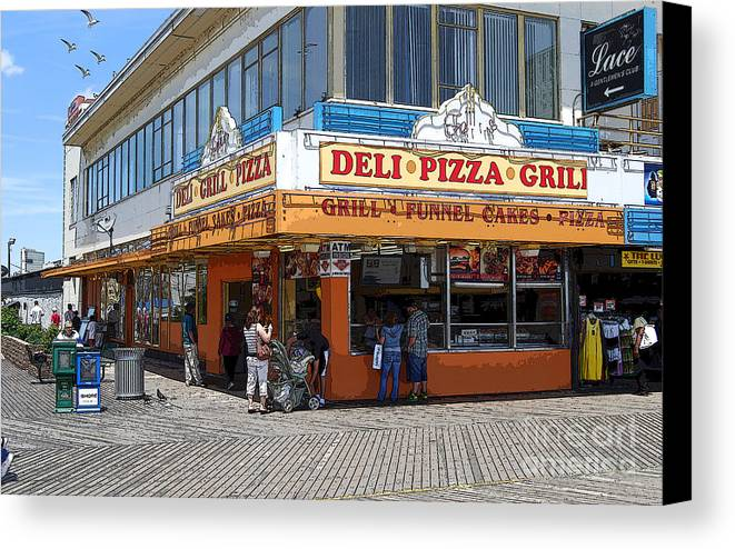 Deli Canvas Print featuring the photograph Deli Pizza Grill Funnel Cakes by Guy Harnett
